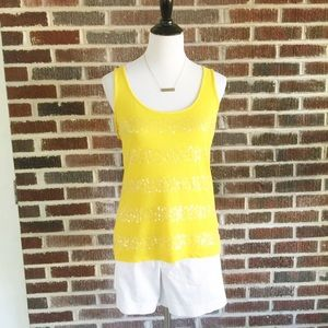 Banana Republic Top with Sequin Stripes size Sm